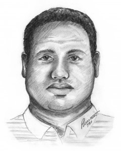 Sketch of Robbery Suspect